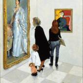 Norman Rockwell: Picasso vs. Sargent, 1966, National Museum of American Illustrators, Newport RI © The Norman Rockwell Family Agency
