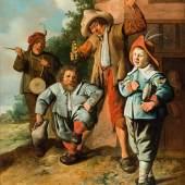 Jan Miense Molenaer (1610-1668): Jugendliche Musikanten und ein tanzender Zwerg, um 1630–1635, SØR Rusche Sammlung Oelde / Berlin