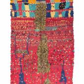 Knüpfteppich aus der Azilal Region Zentraler Hoher Atlas, Marokko Ende 20. Jh. 225 x 130 cm (Blazek. berber. carpets & textiles)