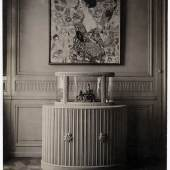 Gustav Klimts Arbeitsraum im Atelier Feldmühlgasse 11, Wien 13, mit den (unvollendeten) Gemälden Die Braut und Dame mit Fächer, 1918  © ONB/Wien Bildarchiv 94884-E, Foto: Moriz Nähr