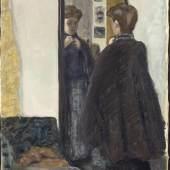 Pierre Bonnard, Dame vor dem Spiegel, um 1905, Öl auf Leinwand  ©Bayerische Staatsgemäldesammlungen, Neue Pinakothek, München