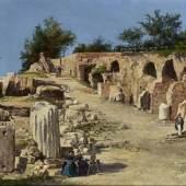 CHARLES BEDDINGTON LTD Antonietta Brandeis (Myslkovice, Czech Republic 1848 - Florence 1926) Rome: On the Palatine Hill, c. 1890's Oil on panel £18,000