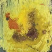 """Herbert Brandl, """"Ohne Titel"""", 1988, Öl, Pigment auf Karton, in Kastenrahmen montiert, 30 x 24 cm, Neue Galerie Graz, Foto: Universalmuseum Joanneum/N. Lackner"""