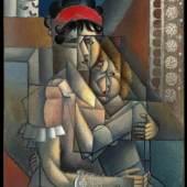 Exhibitor: Jacques de la Béraudière  Jean Metzinger (Nantes 1883-1956 Paris) La femme à la fenêtre, Maternité Oil on canvas, 91.5 x 64.8 cm  Signed lower left 'J. Metzinger'  Circa 1911