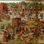 Pieter Brueghel der Jüngere (1564 – 1638), Kirmes, Öl auf Holz, Alte Galerie, Schloss Eggenberg, Foto: UMJ/N. Lackner
