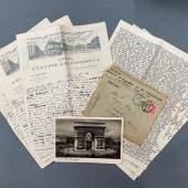 Briefe aus der Exilkorrespondenz Stefan Herz-Kestraneks. © Österreichische Nationalbibliothek