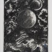 Günter Brus, Nacht, 1970er-Jahre, Bleistift und Buntstift auf Papier, 29,5 x 21 cm, Privatsammlung, Foto: Universalmuseum Joanneum/N. Lackner