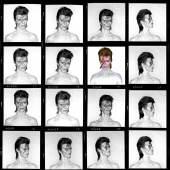 BRIAN DUFFY David Bowie »Aladdin Sane« (Contact Sheet), London 1973 Archival Pigment Print © Brian Duffy / Courtesy of CAMERA WORK