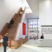 Visualisierung Foyer und Kassenbereich des neuen Bucerius Kunst Forums © Architekten von Gerkan, Marg und Partner (gmp)