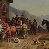 Fein und detailreich schildert Heinrich Bürkel die Tracht der Räuber
