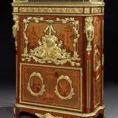 STAND B12  BUTCHOFF ANTIQUES, A TRULY MAGNIFICENT 19TH CENTURY SECRÉTAIRE À ABATTANT BY MAISON ROGIÉ OF PARIS AFTER THE ORIGINAL IN THE WALLACE COLLECTION, MADE IN 1777 BY PIERRE-ANTOINE FOULLET