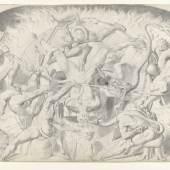Franz Anton Stecher, Die sieben Todsünden, um 1852 Bleistift auf Papier   © TLM