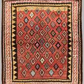 """Zakatala Rug 198 x 173 cm (6' 6"""" x 5' 8"""") Caucasus, ca. 1880"""