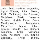 © Stoffe im Raum, Universitätsgalerie im Heiligenkreuzer Hof, Grafik: Elisabeth Danzer, Richard Klippfeld, Paul Zentner