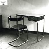 Stahlrohrstuhl B 263 und Schreibtisch,  Mart Stam, 1932, Thonet Frankenberg