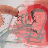 Camille Henrot Train safely 2019 Aquarell auf Papier / Watercolor on paper 91,4 x 119,4 cm Courtesy of the artist and kamel mennour Paris/London Photo: Camille Henrot Studio