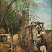 """Camille Jean-Baptiste Corot, 1796 Paris """""""" 1875 LE PUITS Öl auf Leinwand. 41 x 32 cm. Schätzpreis:250.000 - 300.000 EUR"""