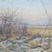 Camille Pissarros (1830-1903) Pastell einer Winterlandschaft mit Restschnee für 24.000 Euro