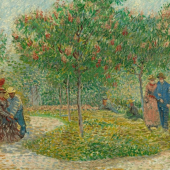 Garden with Courting Couples: Square Saint-Pierre  Vincent van Gogh (1853 - 1890), Paris, May 1887  oil on canvas, 75.0 cm x 113.0 cm  Credits (obliged to state): Van Gogh Museum, Amsterdam (Vincent van Gogh Foundation)