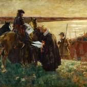 Carl Becker, Die Belehnung Altonas mit den Stadtrechten 1664, um 1898, Öl auf Leinwand, Sammlung Altonaer Museum, Foto SHMH, Elke Schneider