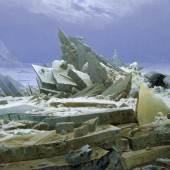 Caspar David Friedrich (1774–1840) Das Eismeer, 1823/24 Öl auf Leinwand, 96,7 x 126,9 cm © Hamburger Kunsthalle / bpk Foto: Elke Walford