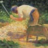 Georges Seurat Casseur de pierres à la brouette, Le Raincy, 1882 Öl auf Holz, 15,5 x 24,7 cm The Phillips Collection, Washington, D.C.