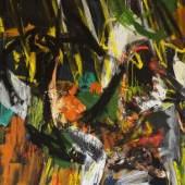 Helmut Sturm, o. T., 1987, Öl auf Leinwand, 153 x 124 cm