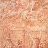 Giovanni Maria Morandi; Anbetung der Trinität; Wallraf-Richartz-Museum & Fondation Corboud, Graphische Sammlung (Z 02157, Köln)