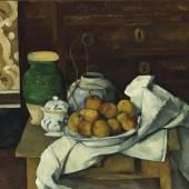 Paul Cézanne (1839 - 1906), Stillleben mit Kommode, um 1883/87  © Bayerische Staatsgemäldesammlungen, Neue Pinakothek München