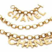 Chain belt and bracelet, Chanel (€200 - 300)