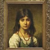 Mädchenportrait von Alexej Alexejewitsch Charlamoff (attrib.) erzielt Zuschlag bei 26.000 €