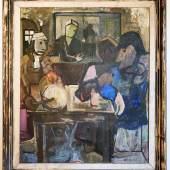 Charles Hindenlang (1894-1960), Fasnachts Interieur, 1927, Öl auf Leinwand, 119,5 x 105 cm