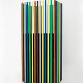 Name: Girotondo Typology: cabinet Editor: Zanotta Edizioni, limited edition  Year: 2002 Country: Italy Material / Technic: tinted wood and lacquered metal Size: 78cm x 53cm x 173cm Photo Credit: Fabrice Gousset