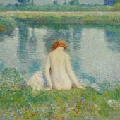 Childe Hassam Bather and Cloud Reflections Estimate $200,300,000
