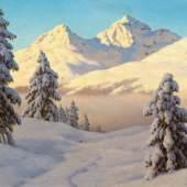 IVAN FEDOROVIC CHOULTSE Winterlandschaft im Sonnenschein. Öl auf Leinwand. Signiert: Iw. F. Choultsé. 54,5x65,5 cm. CHF 60 000 / 80 000