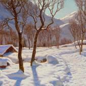 IVAN FEDEROVIC CHOULTSE  Scène d'hiver dans les Alpes. 1923.  Öl auf Leinwand.  CHF 70 000 - 90 000