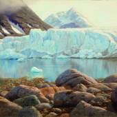 3272 IVAN FEDEROVIC CHOULTSÉ (St. Petersburg 1874-1939 Nizza) Gletscher von Spitzbergen. 1911. Öl auf Leinwand. 63 x 90 cm. CHF 90 000 / 120 000
