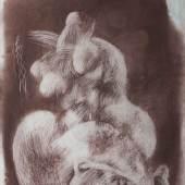 Chunya Zhou (Chongqing 1955) Figur 1988. Kohlestift auf Papier, l. u. dat. '1988.2' und chinesisch sign. Limitpreis:20.000 €