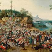 Pieter Brueghel the Younger (1564/5 - 1637/8). St George's kermis with the dance around the maypole. Signed and dated lower left: P BREVGHEL 1627 Panel: 54.6 x 75.7 cm   Richard Green