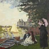 Claude Monet Der Landesteg, 1871 Öl auf Leinwand Acquavella Galleries