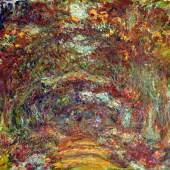 Claude Monet Der Rosenweg in Giverny, 1920−1922 Öl auf Leinwand Musée Marmottan Monet, Paris / The Bridgeman Art Library