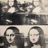 Andy Warhol, Mona Lisa (four times), ca 1979, silkscreen ink on canvas, 127,6x 101,6cm, identification number: 104.091, Galerie Klaus Benden, Köln