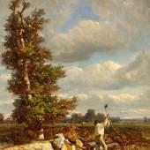 Constant Troyon  Der Holzfäller  Öl auf Leinwand   49,5 x 35cm  Schätzpreis: 17.000 – 20.000 Euro