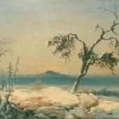 JOHN MITCHELL FINE PAINTINGS Peder Balke (1804-1887)  Landscape from Finnmark  Oil on canvas  34.9 x 52 cm