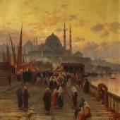 Lot 1208 Nr. 394 366 Hermann (David Salkomon) Corrodi Hafenszene in Istanbul Öl auf Leinwand, 80 x 64,5 cm Schätzpreis: € 12.000 – 14.000,- Ergebnis: € 124.000,-