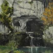 Gustave Courbet: Die Quelle der Lison, 1864 Öl auf Leinwand, 60,8 x 50 cm Bez. l. u.: G. Courbet. Privatbesitz Foto: Uwe Dettmar, Frankfurt a. M.