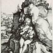 Albrecht Dürer: Die Buße des Hl. Johannes Chrysostomus, um 1496. Kupferstich. © bpk / Staatliche Museen zu Berlin, Kupferstichkabinet / Volker-H. Schneider