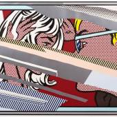 "08. Roy Lichtenstein,  ""Reflections on Conversation"", 1990, Lithographie, Siebdruck und Farbholzschnitt auf Papier, 136.5 x 170 cm, Ed. 4/68 Bild: Gerald Hartinger Fine Arts © Estate of Roy Lichtenstein / Bildrecht, Wien, 2018"