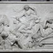 Ernst Julius Hähnel (Dresden 1811 – 1891 Dresden), Allegorie auf Michelangelo (Michelangelo und die Göttin der Nacht) Gips, 68,5 cm x 97,5 cm x 10 cm, Skulpturensammlung