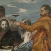 Paolo Veronese, Die Hochzeit zu Kana, um 1571 Öl auf Leinwand, 207 x 457 cm, Gal.-Nr. 226, Detail: Jesus verwandelt Wasser in Wein